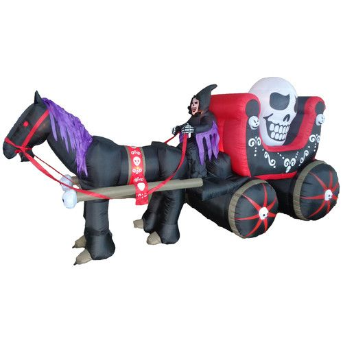 Found it at Wayfairca - Halloween Inflatable Carriage with Huge - outdoor inflatable halloween decorations
