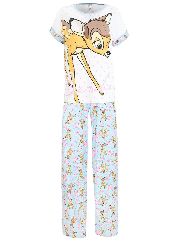 3f15410186 Disney Bambi Womens  Bambi Pajamas Medium at Amazon Women s Clothing store