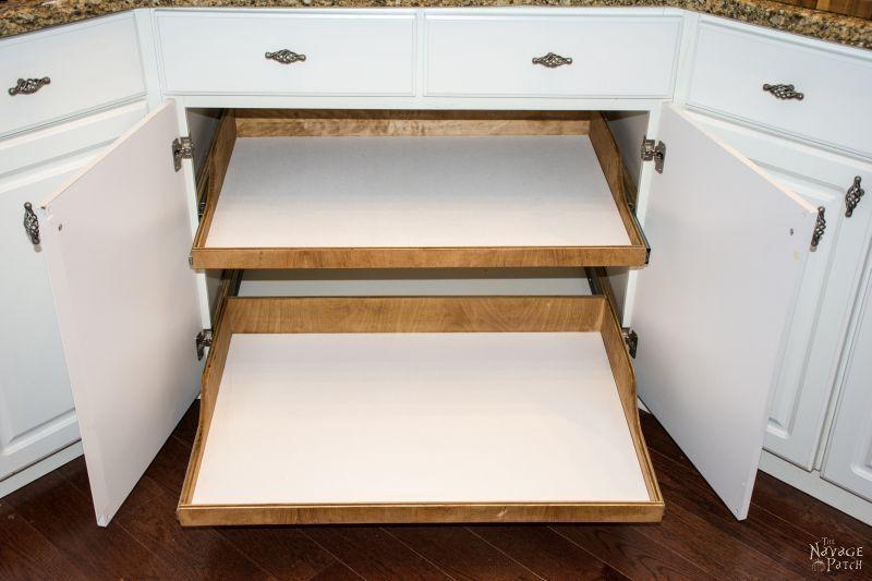 Diy Slide Out Shelves For The Home Slide Out Shelves Diy Slides