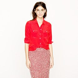 J.Crew Fall/Holiday 2012 | Blythe blouse in silk