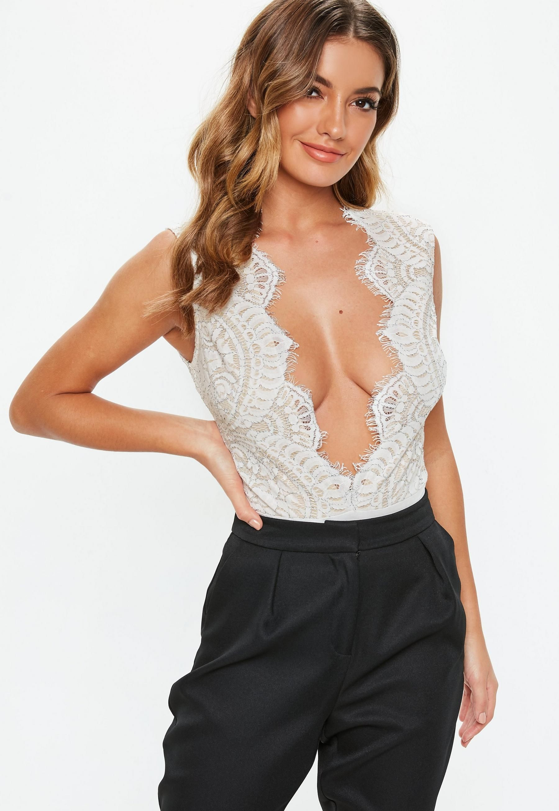 724210d66f75b White Scallop Edge Lace Bodysuit