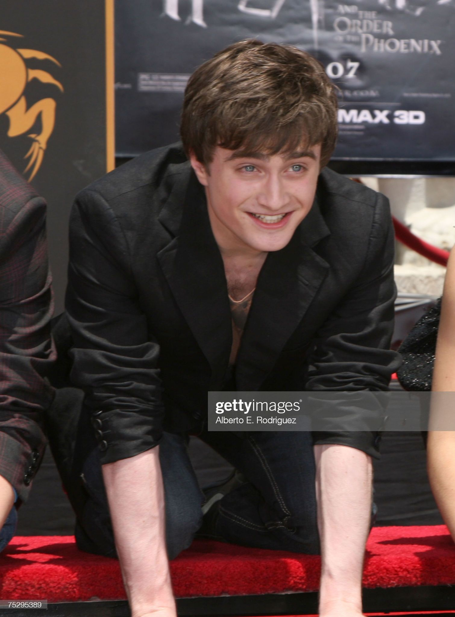 Actor Daniel Radcliffe attends the Harry Potter ca
