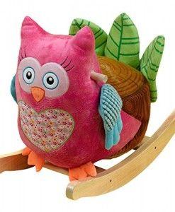 ROCKABYE OWLIVER GREEN OWL ROCKER BABY ROCKING HORSE CHILDREN'S RIDE0N TOY NEW