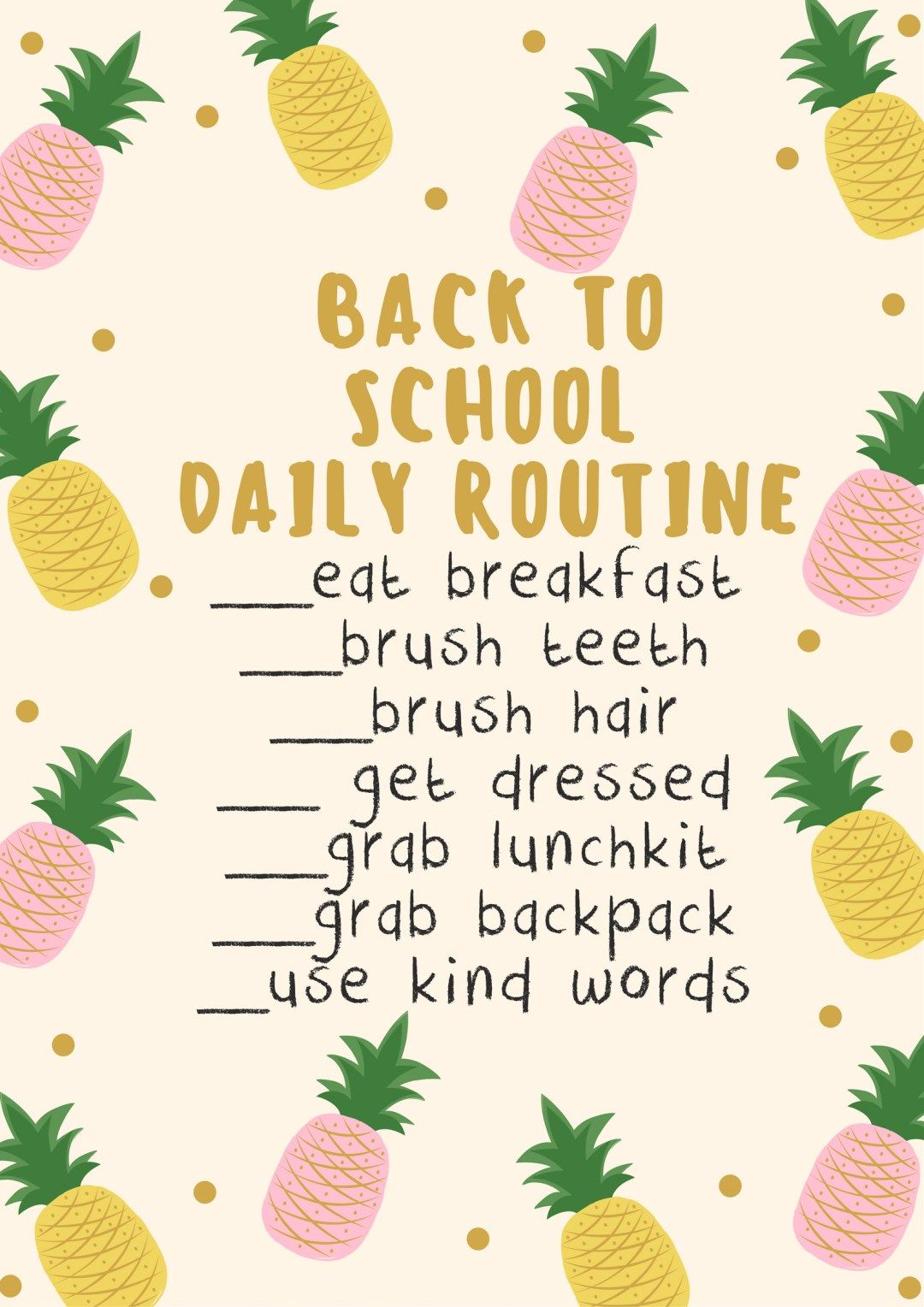 Creating A Back To School Routine  School Routines School And