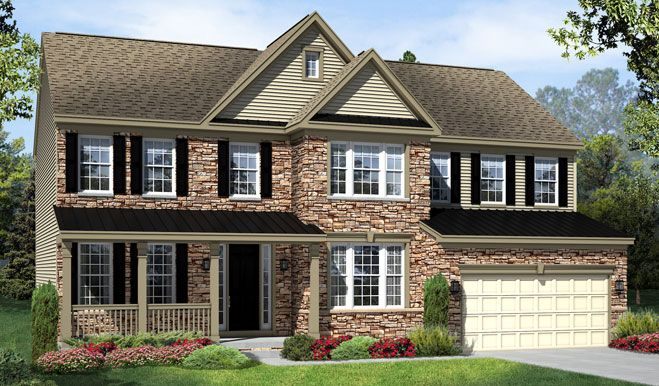 Stone exterior and covered porch! The Amherst home in Ashburn, VA [photo 7]
