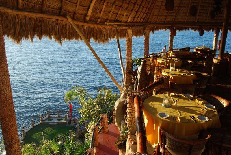 Le Kliff Puerto Vallarta Mexico Restaurant Sits On Top