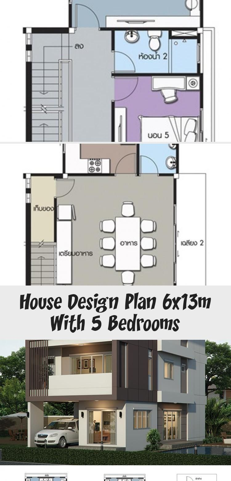 House Design Plan 6x13m With 5 Bedrooms House Plans 3d Modernhouseplanswithgarage Modernhouseplanstwo Mo In 2020 Home Design Plans Modern House Plans House Design