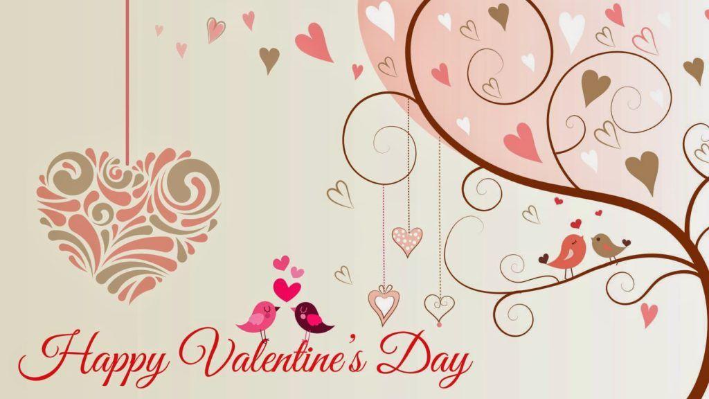 Happy Valentines Day Wallpaper Love Birds Happy Valentines Day Images Valentines Day Messages Happy Valentines Day Happy valentine day wallpaper free