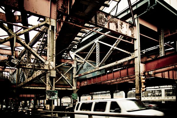 Crossing Queensboro Bridge New York City. Matt Mawson