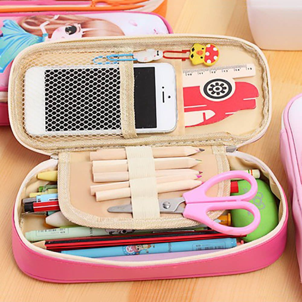 Lovely Kawaii Girl Pen Pencil Case Large Capacity Kids