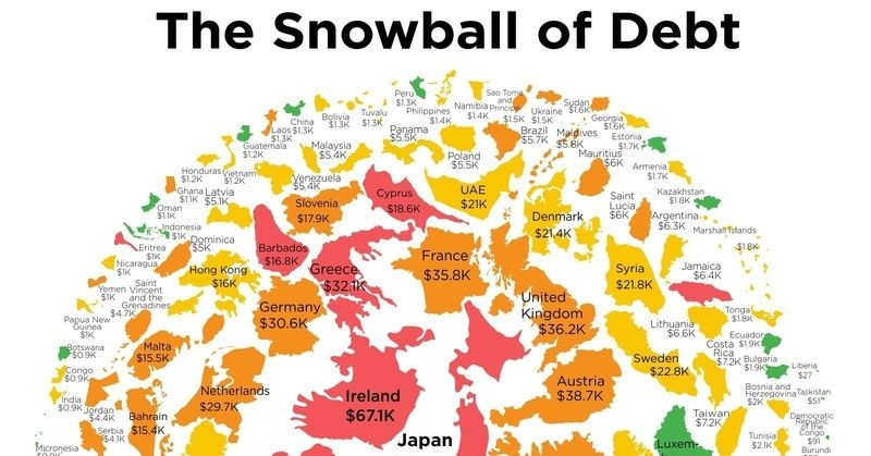 This map shows how much you owe towards your countrys debt baaaw this map shows how much you owe towards your countrys debt gumiabroncs Choice Image