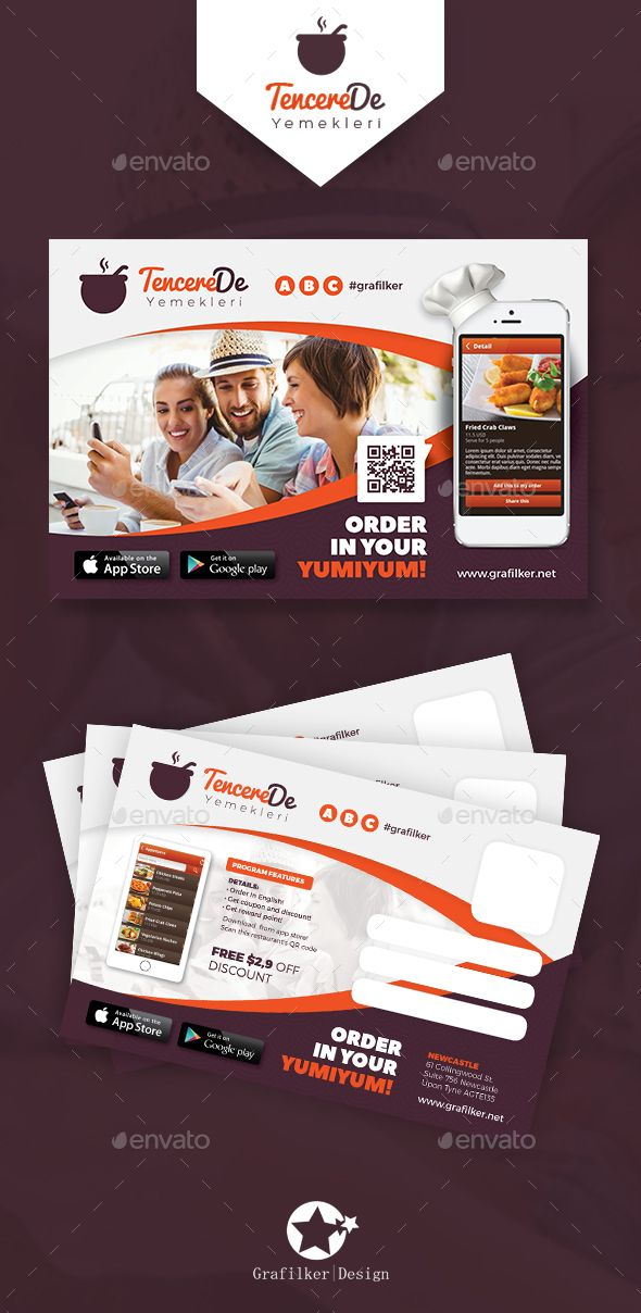 Mobile App Postcard Templates   Postcard template, Mobile app and ...