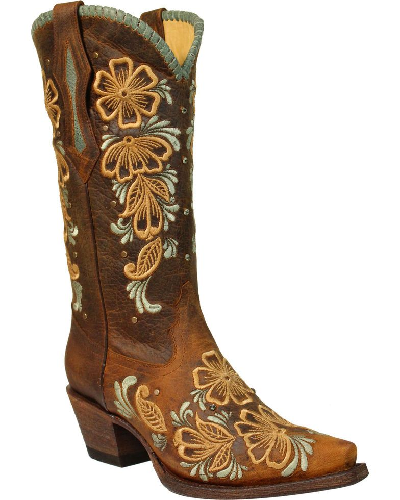 369d3835668 Corral Women's Daisy Embroidered Snip Toe Western Boots in 2019 ...
