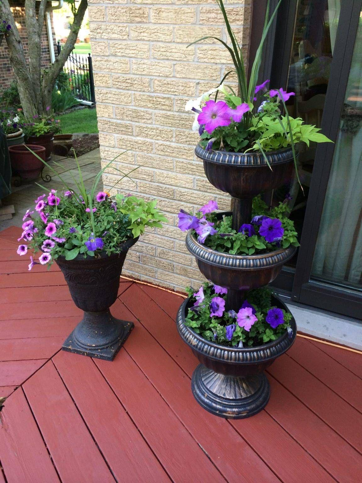 Stunning Front Door Flower Pots 11 Fabulous Ideas In 2021 Tiered Planter Flower Planters Garden Planters Diy
