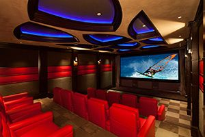 Ferrari-inspired #HomeTheater Combines Muscle and Style. www.homecontrols.com