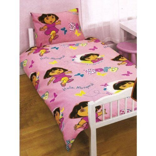 Childrens/Kids Girls Dora The Explorer Junior Bed Quilt/Duvet ... : junior bed quilt - Adamdwight.com