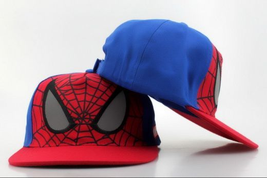 MARVEL Comics Snapbacks Spider-Man Kids Caps Red Blue  790b0f46cdb3
