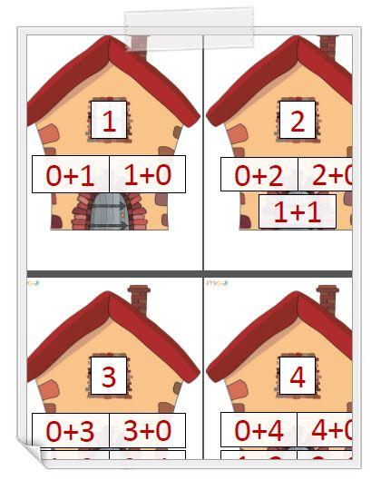 les maisons des nombres plusieurs versions version vierge matematyczne pinterest les. Black Bedroom Furniture Sets. Home Design Ideas