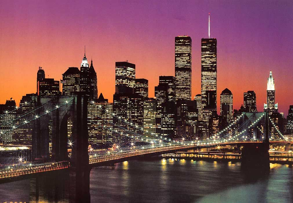 new york city manhattan night skyline fototapete manhattan skyline new york klicken f r. Black Bedroom Furniture Sets. Home Design Ideas