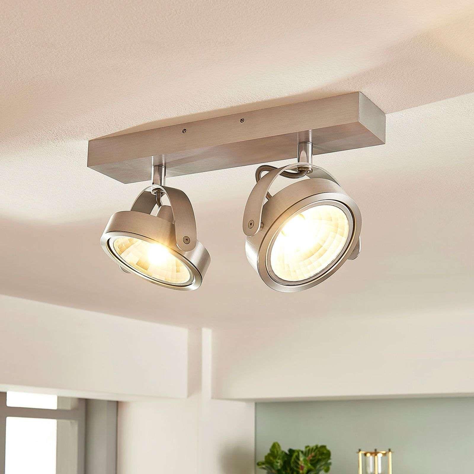 Projecteur Aluminium A 2 Lampes Lieven Et Led G9 De Arcchio En 2020 Plafonnier Led Plafonnier Led Design Et Luminaire Plafond