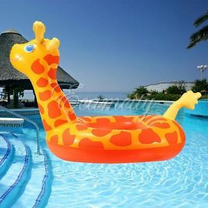 Giraffe Shape Baby Child Inflatable Swimming Pool Raft Chair Seat Float  Ring New