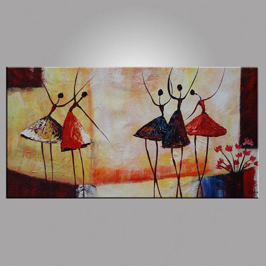Abstract Ballet Dancer Oil Painting On Canvas Figurative Wall Art Paintings For Living Room Home Decor Dancer Painting Figurative Wall Art Canvas Art Painting
