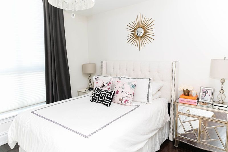 Ceres Ribeiro S Union City Nj Home Tour The Everygirl Bedroom Layouts Decor Couple Room