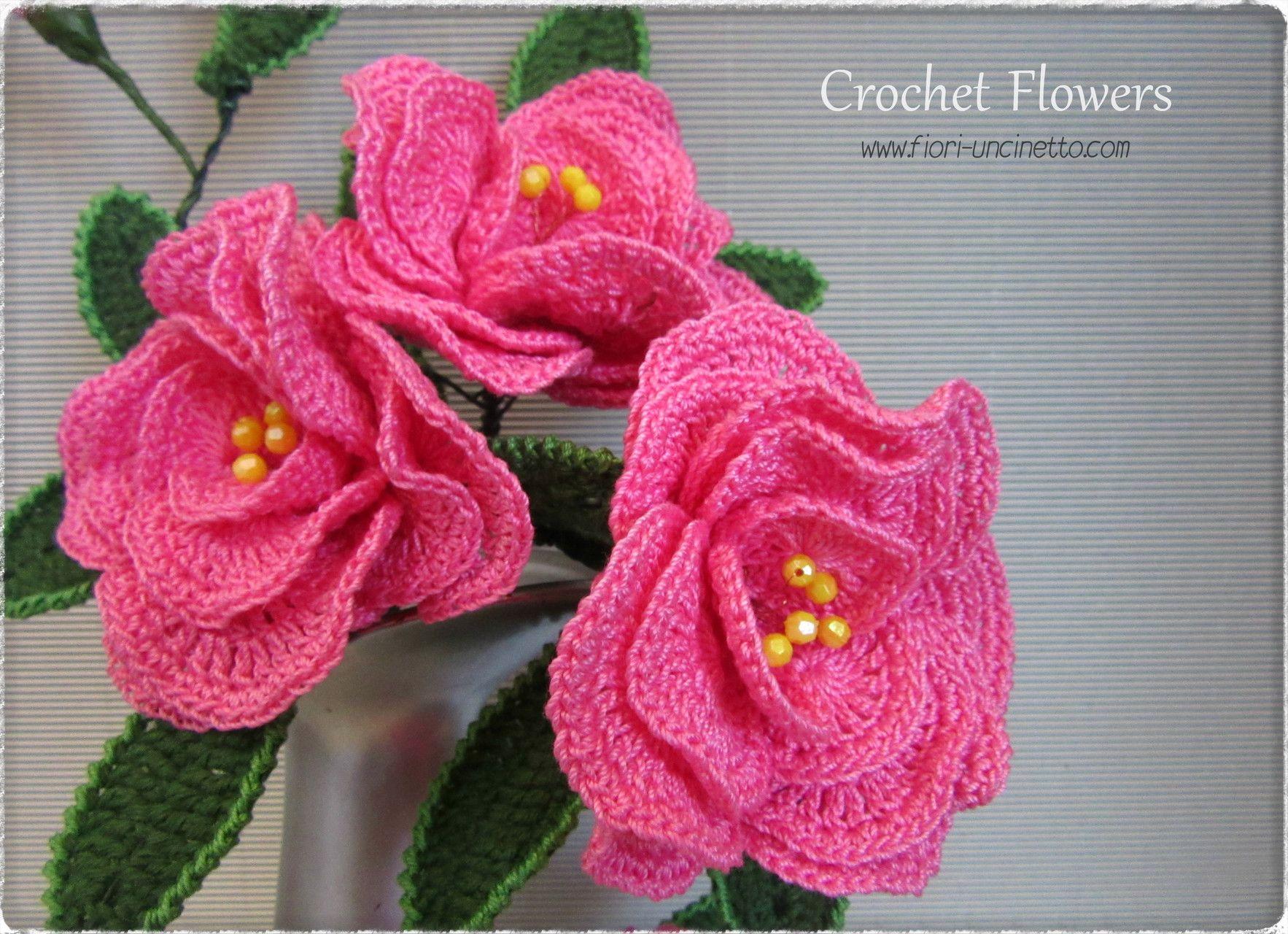 Fiori Uncinetto - Crochet Flowers - Fiori all\'Uncinetto - Crochet ...