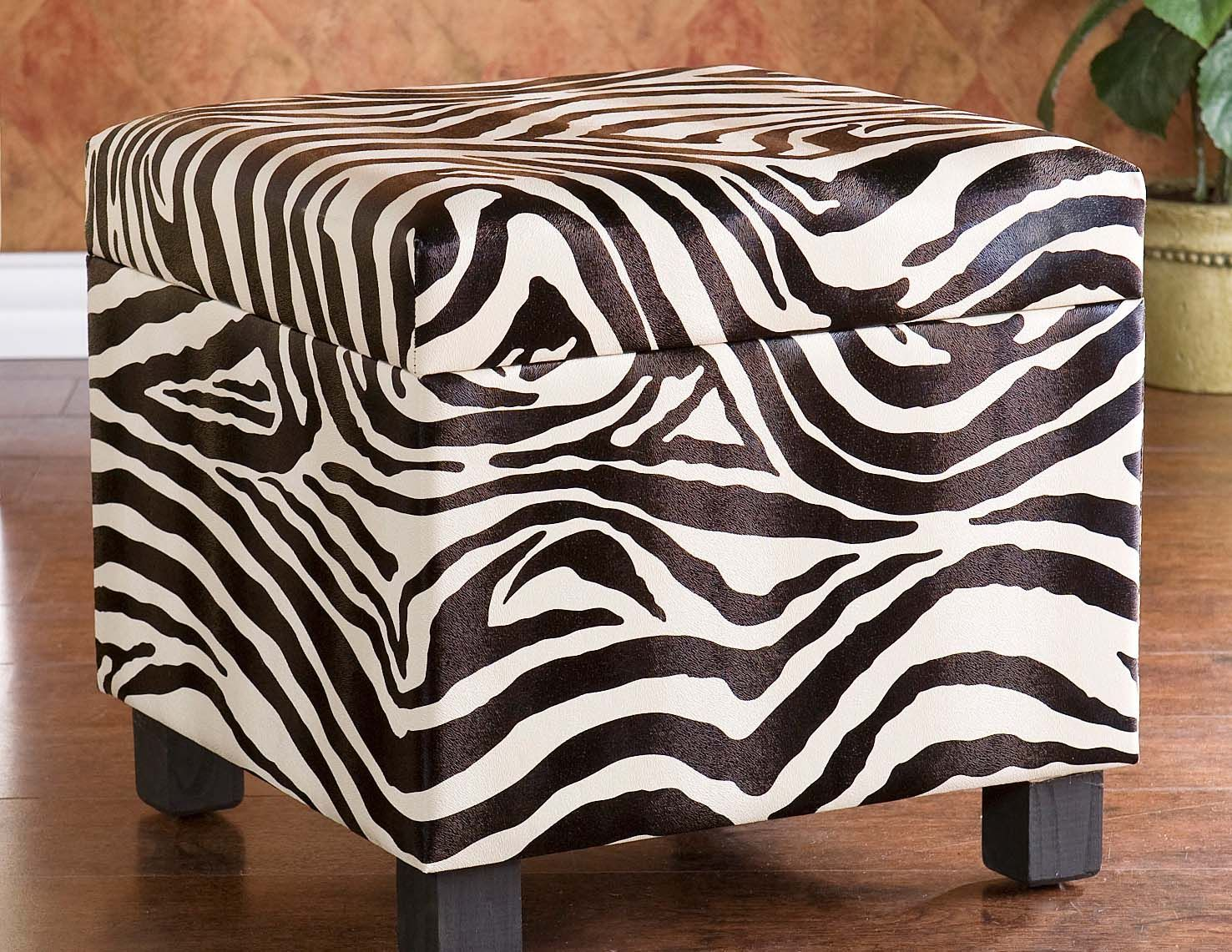 Holly U0026 Martin Zebra Safari Storage Ottoman  Www.ubuyfurniture.com/holly Martin Zebra Storage Ottoman.html #holly  #martin #zebra #print #safari #storage ...
