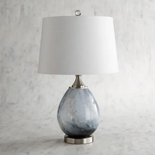Seafoam Art Glass Gray Table Lamp Pier 1 Grey Table Lamps Lamp Table Lamp