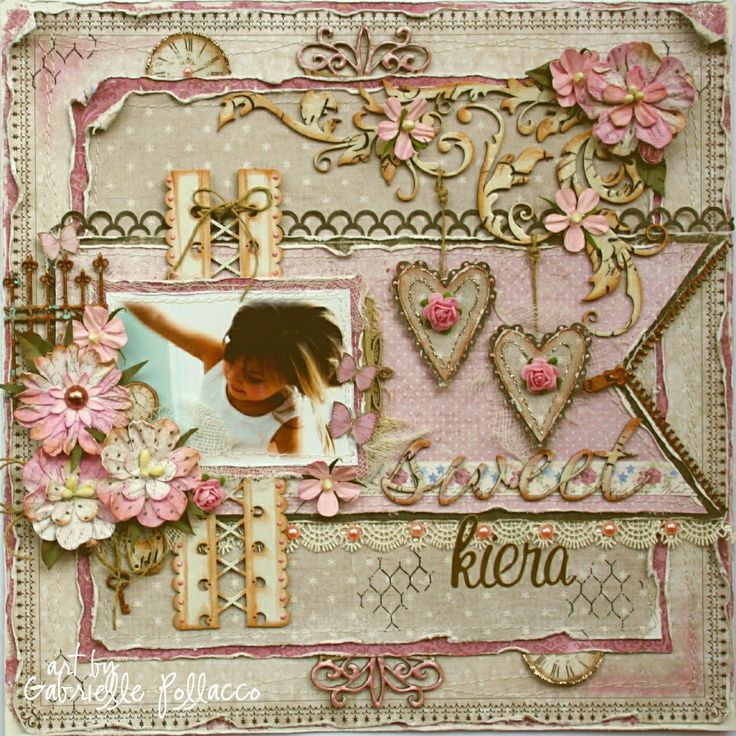 Sweet Kiera #layout by Gabrielle Pollacco #scrapbook