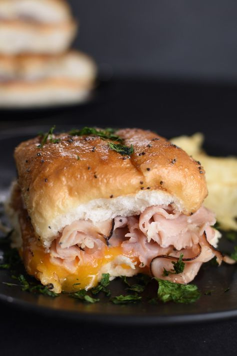 Sandwich recipes 240238961359224565 -  Hot Ham and Cheese Sliders are an easy make ahead sandwich recipe. They are toasty, gooey, and have the best glaze on top! #sandwiches #hamsandwiches #bakedsandwiches  Source by marcihill81