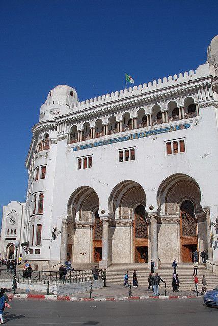 Grand Poste Algiers Algeria Moorish Architecture