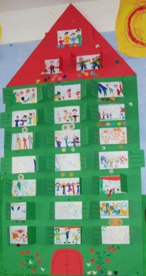 * Alle kinderen tekenen hun familie!