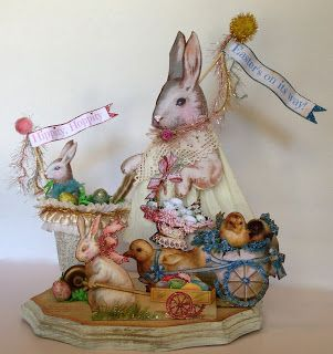 Vintage Style Handmade Easter Decorations