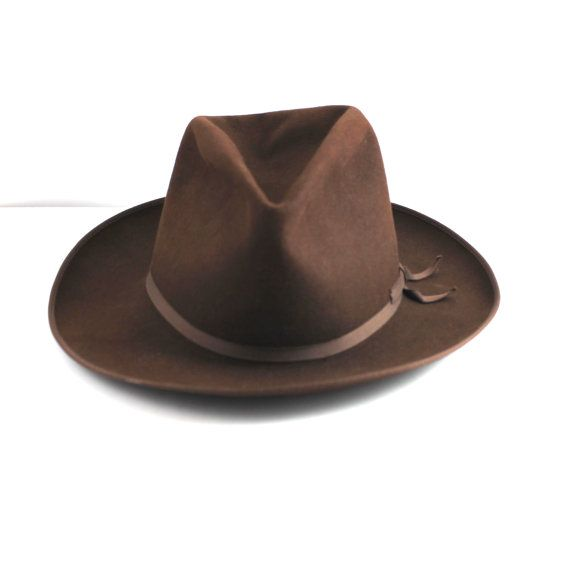 1392232f93a9c7 1940s Vintage Stetson Stratoliner Hat by threadsandpins on Etsy, $100.00  This great vintage dark brown