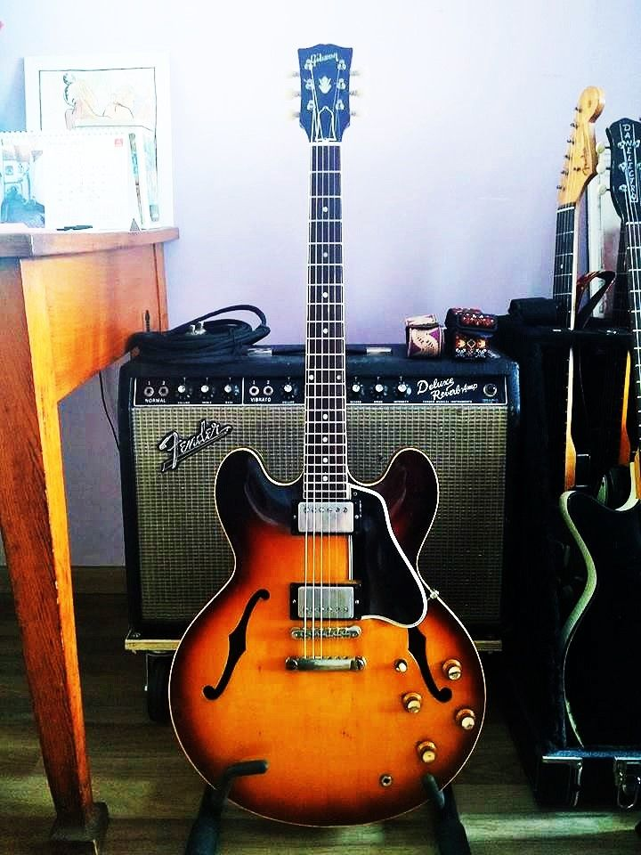 Gibson Es 335 1961 Gibson Electric Guitar Semi Acoustic Guitar Epiphone Guitars