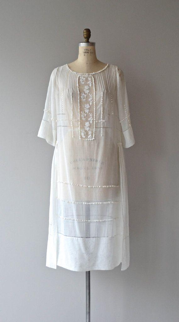 Abella sheer cotton dress • vintage 1920s dress • cotton 20s dress ...