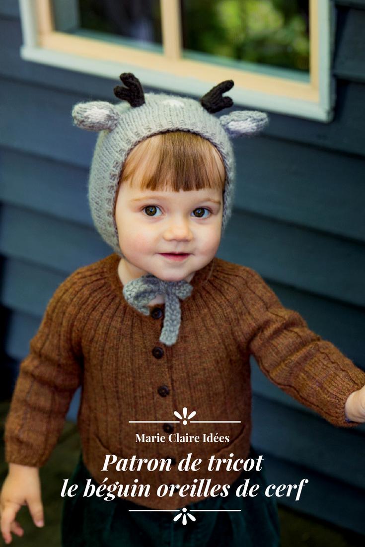 c320217765aa patron de tricot   béguin enfant oreilles de cerf - Marie Claire Idées