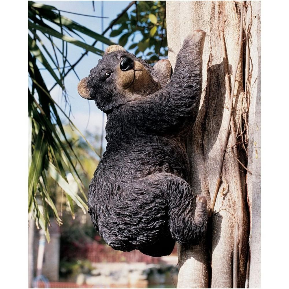 Design Toscano Yonva The Climbing Bear Sculpture Set 2 Piece