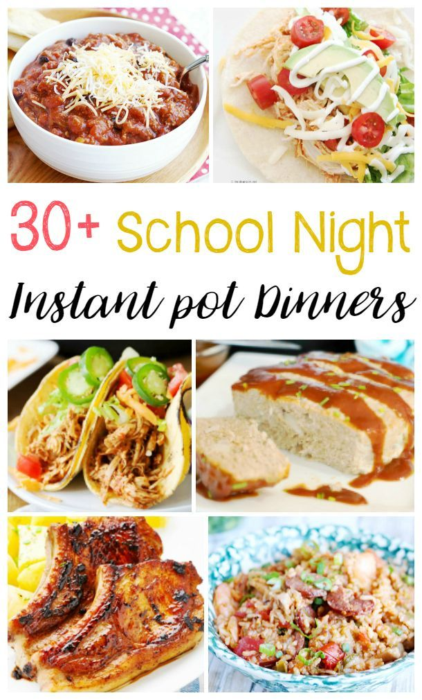 30+ Easy Instant Pot Dinner Recipes Easy Instant Pot Dinner Recipes for Busy School Nights, Perfect Back to School Recipes for the family, Healthy Instant Pot Dinner Recipes, Instant Pot Chicken Recipes and more. If you are looking for quick dinner ideas, you've come to the right place.