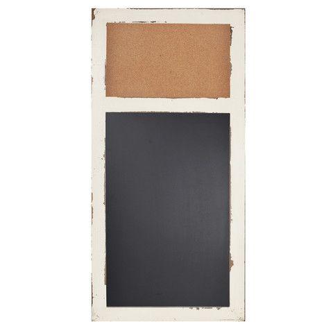 "Distressed Wood Message Cork Bulletin Board & Chalk Board 16""x 32"" – lightaccents.com"