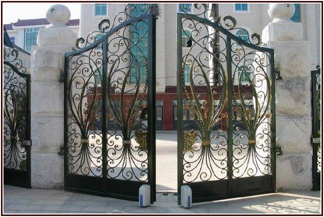 Shining Old Wrought Iron Gates For Sale Cửa Sổ Biệt Thự Sắt