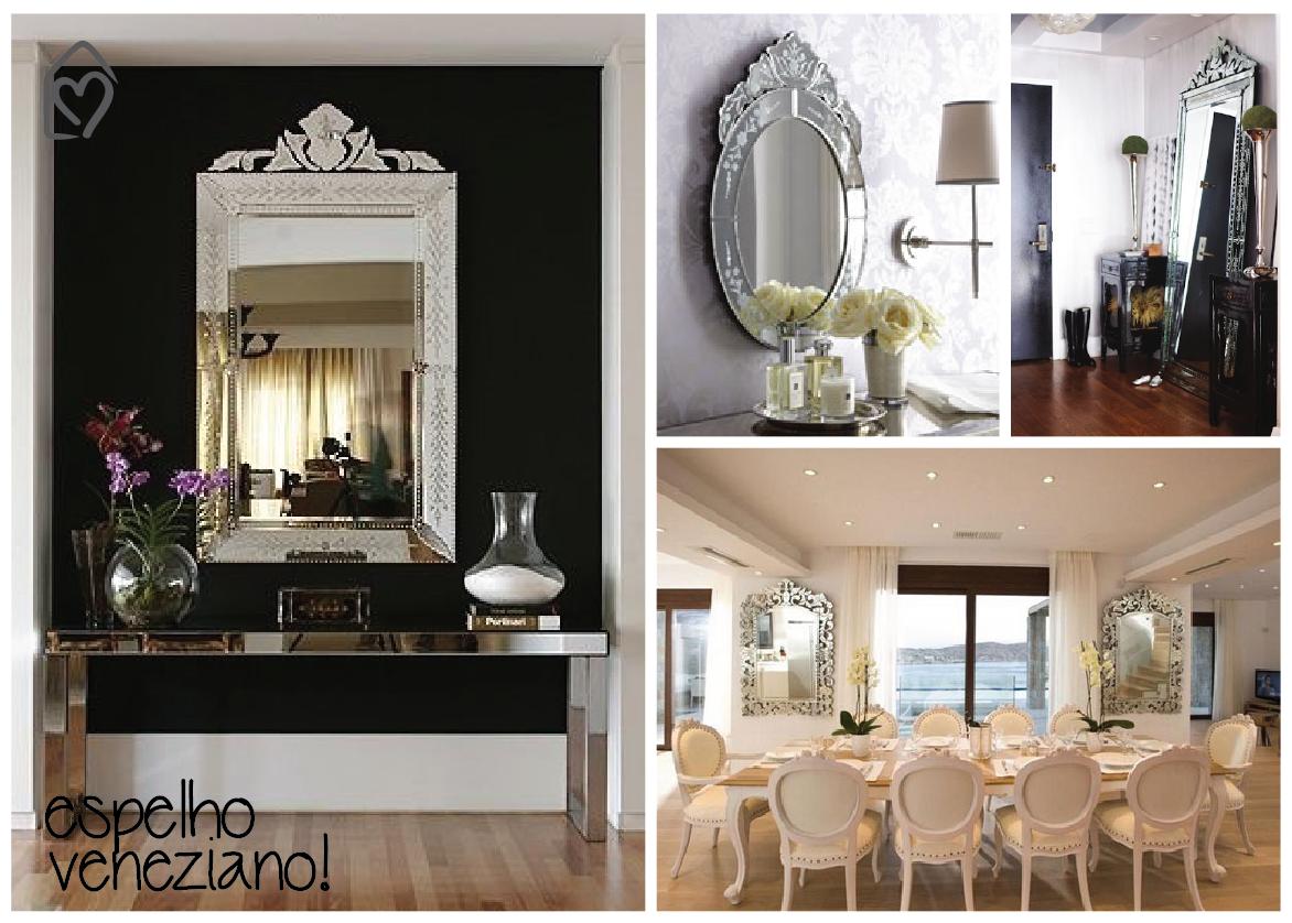 Espelho veneziano na decoração   Espelho veneziano, Veneziano e Espelhos