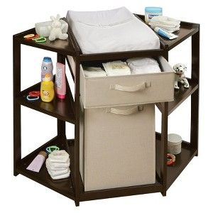 Target Mobile Site   Badger Basket Diaper Corner Baby Changing Table With  Hamper   Espresso