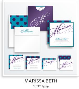Bat Mitzvah Invitation Suite 5179 Marissa Beth bat mitzvah