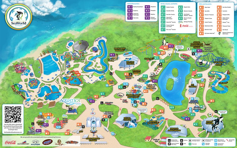 seaworld map san antonio Pin En Sea World seaworld map san antonio