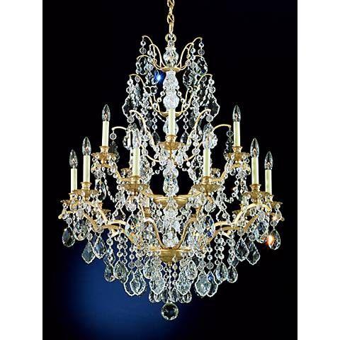 Schonbek bordeaux 15 light large crystal chandelier style schonbek bordeaux 15 light large crystal chandelier 21824 lamps plus mozeypictures Gallery