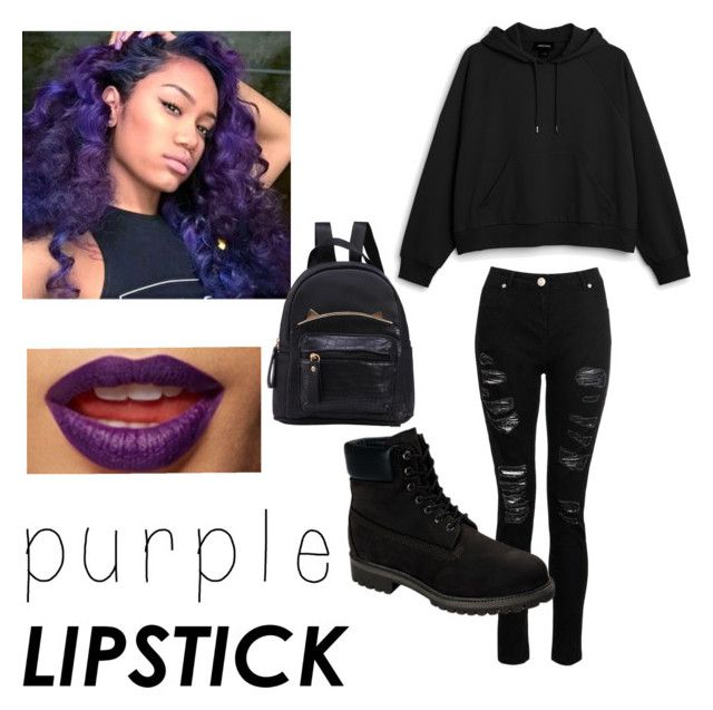 """""""Purple Hair, Purple Lips🍇"""" by xxbabypandaxx on Polyvore featuring beauty, Monki, Dorothy Perkins and Timberland"""