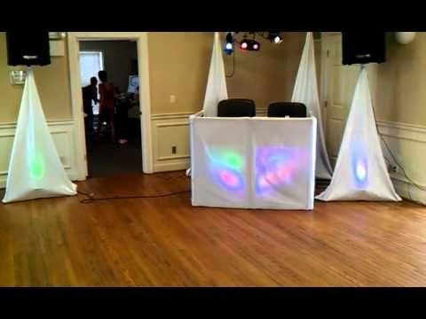 Diy Dj Setup With Lights In Daylight Diy Wedding